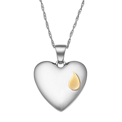 "Sterling Silver ""Forever in my Heart"" Pendant Necklace"