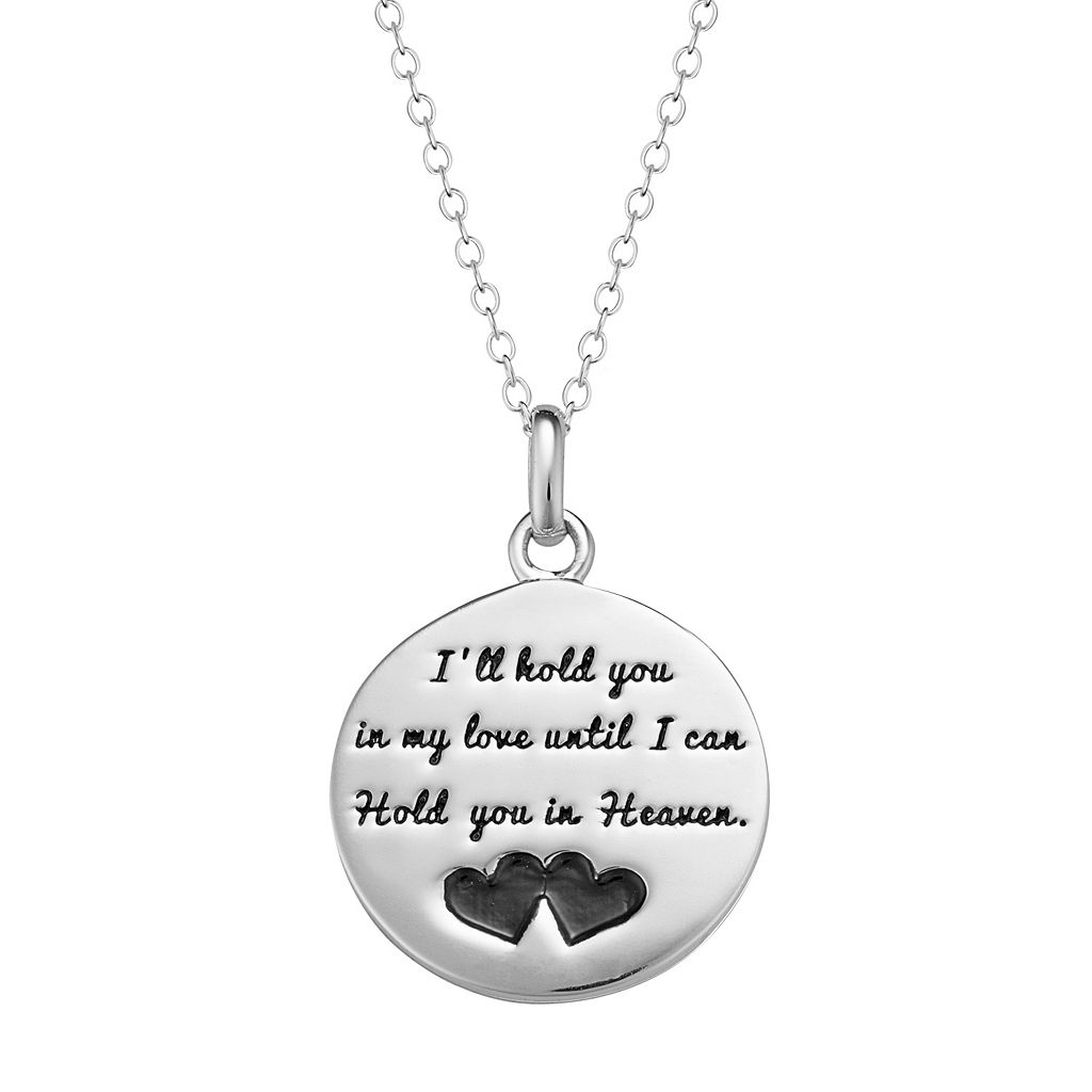 Sterling Silver Memorial Disc Pendant Necklace