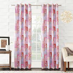 Sun Zero 1-Panel Brazoria Tangerine Window Curtain
