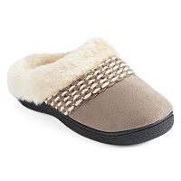 Isotoner Women's Woodlands Hookback Clog Slippers