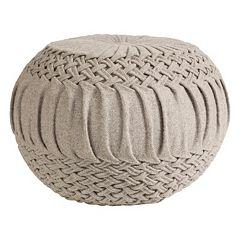 Decor 140 Rilmos Wool Blend Pouf