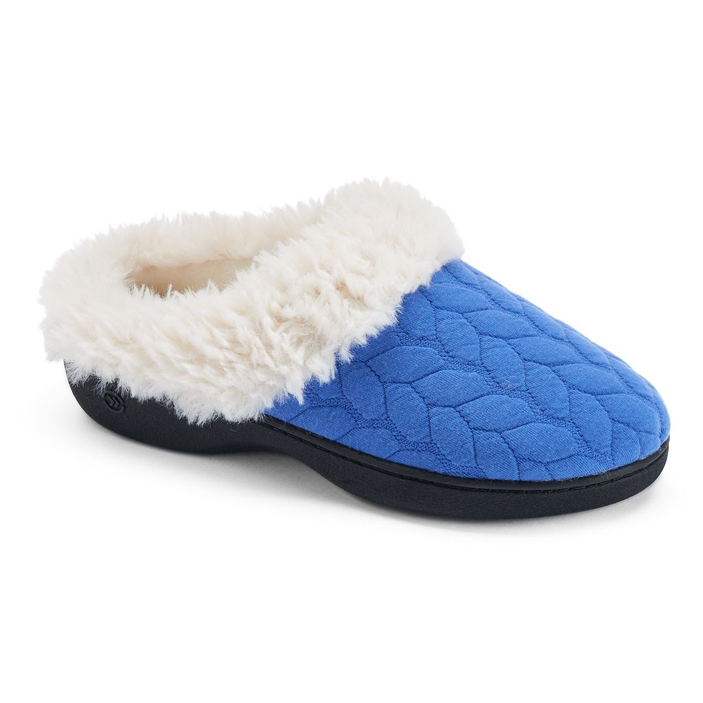 Isotoner Women's Jersey Quilted Clog Slippers