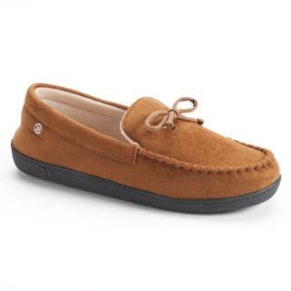 Isotoner Men's Microsuede Gel Memory Foam Moccasin Slippers