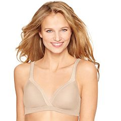 Hanes Ultimate Bra: Cool Comfort Full-Coverage Wire-Free Bra HU18