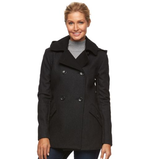 Women's Braetan Two Tone Hooded Peacoat