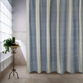 Chambray Twill Stripe Shower Curtain
