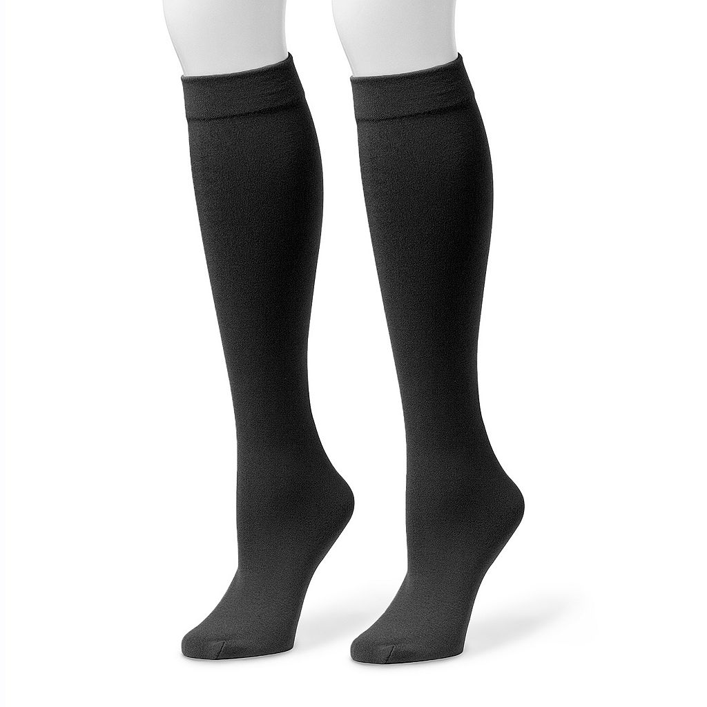 MUK LUKS 2-pk. Women's Fleece-Lined Knee-High Socks