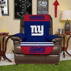 New York Giants Quilted Recliner Chair Cover