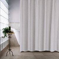Farmhouse Ticking Stripe Shower Curtain