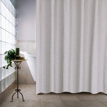Farmhouse Ticking Stripe Shower Curtain