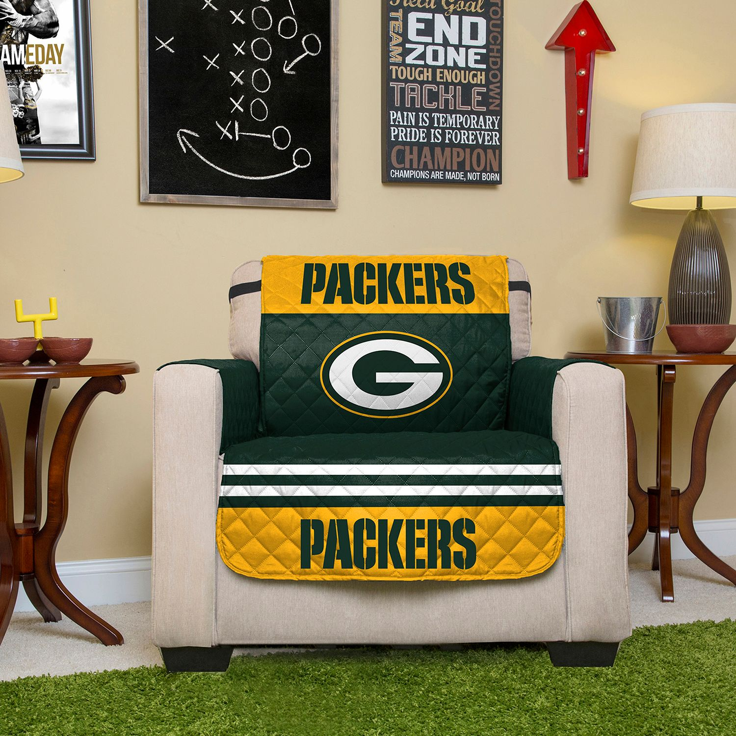 Superieur Green Bay Packers Quilted Chair Cover