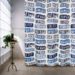 License Plates Shower Curtain