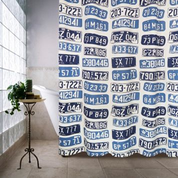 License Plates Shower Curtain