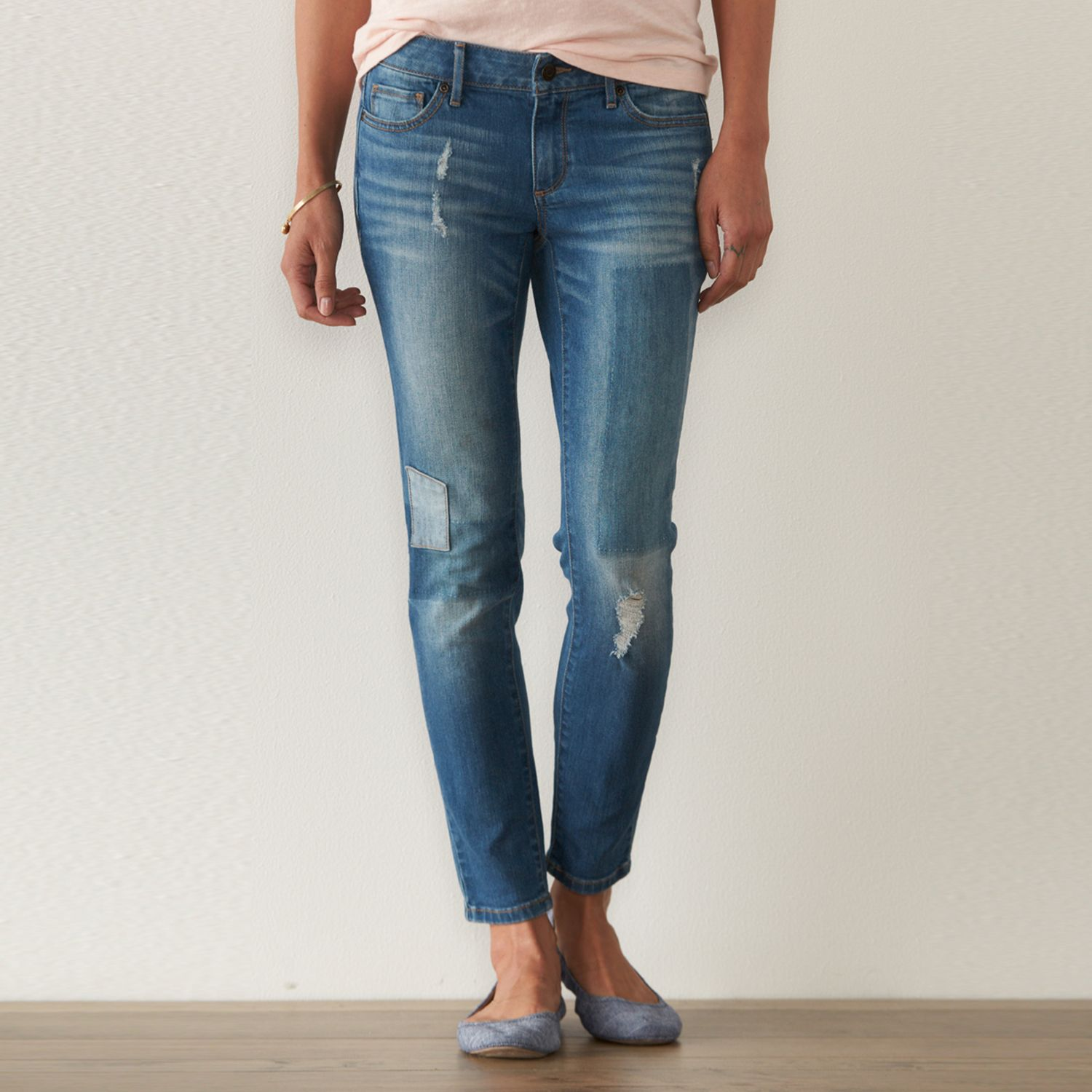 Petite SONOMA Goods for Life? Ripped Skinny Jeans
