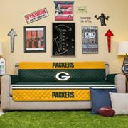Green Bay Packers Quilted Sofa Cover
