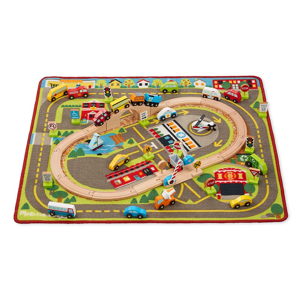 Melissa Doug Deluxe Multi Vehicle Activity Rug