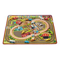 Melissa & Doug Deluxe Multi-Vehicle Activity Rug