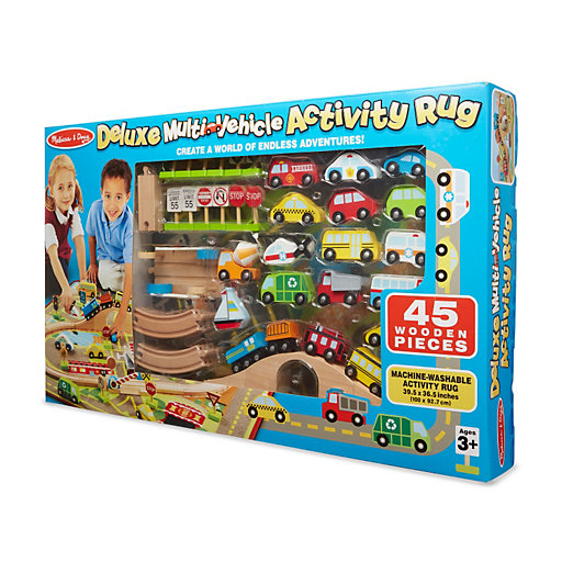 Melissa Amp Doug Deluxe Multi Vehicle Activity Rug Null