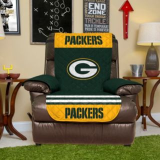 Green Bay Packers Quilted Recliner Chair Cover