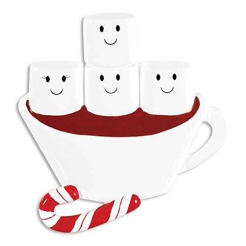 PolarX Ornaments Hot Chocolate Family Of 4 Christmas Ornament