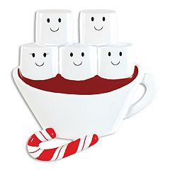 PolarX Ornaments Hot Chocolate Family Of 5 Christmas Ornament