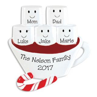 PolarX Ornaments Hot Chocolate Family Of 5 Christmas Ornament