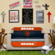 Chicago Bears Quilted Loveseat Cover