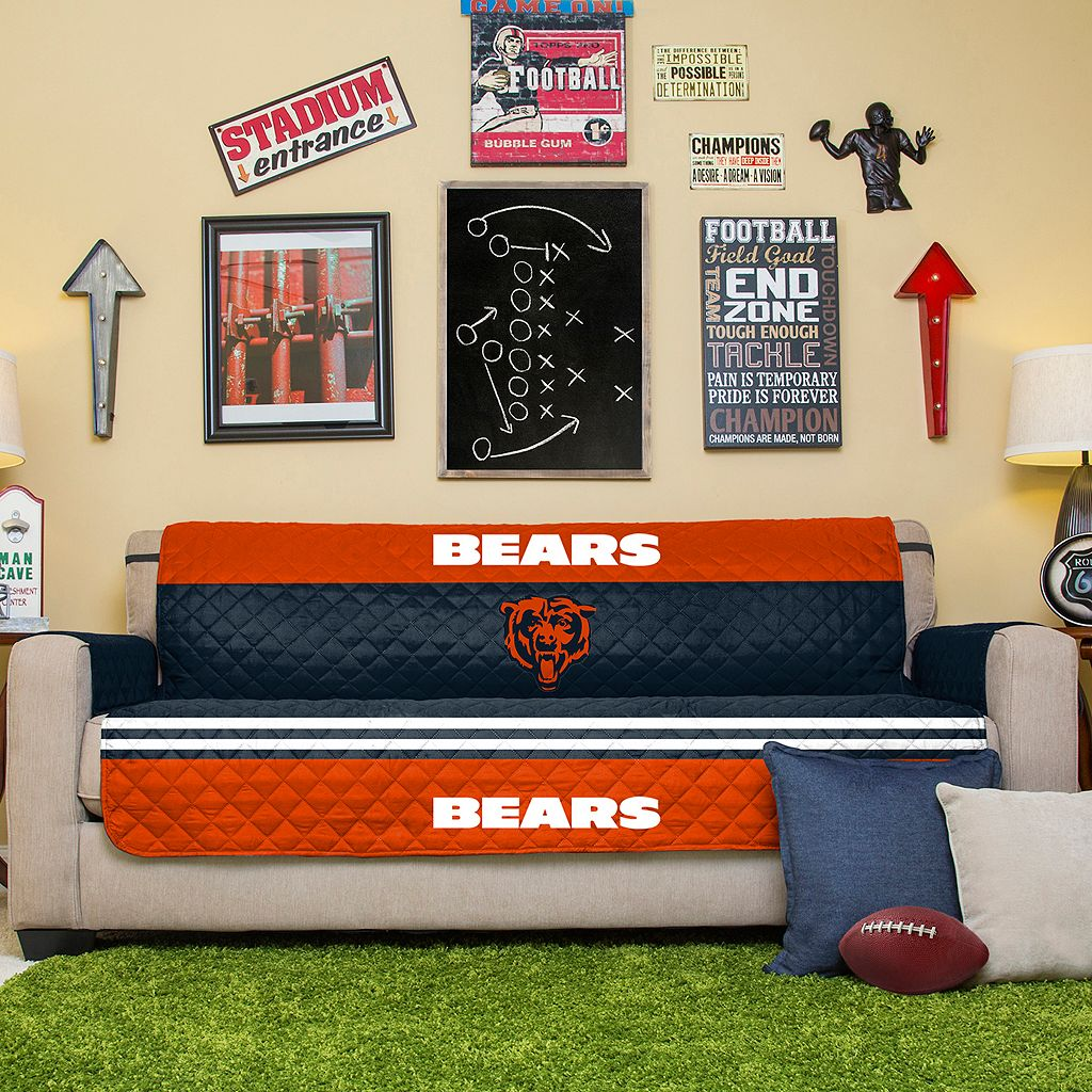 Chicago Bears Quilted Sofa Cover