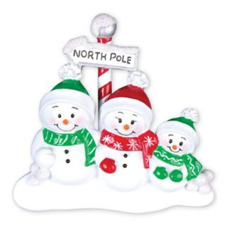 PolarX Ornaments Snowman Family Of 3 Christmas Ornament
