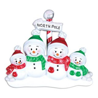 PolarX Ornaments Snowman Family Of 4 Christmas Ornament