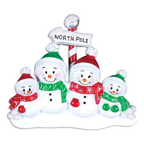 PolarX Ornaments Snowman Family Of 4 Christmas Ornament