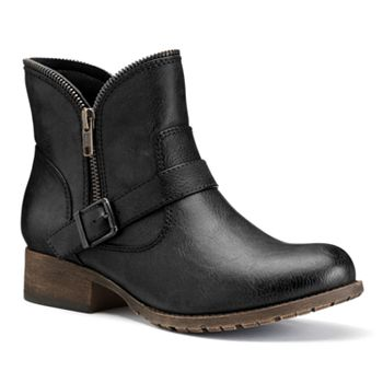 SO Zipper Ankle Womens Boots