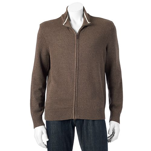 Big & Tall Dockers Classic-Fit Full-Zip Sweater