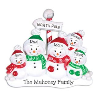PolarX Ornaments Snowman Family Of 5 Christmas Ornament