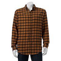 Men's Croft & Barrow® Classic-Fit Plaid Flannel Button-Down Shirt