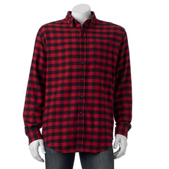 Croft & Barrow Classic-Fit Plaid Flannel Men's Shirt