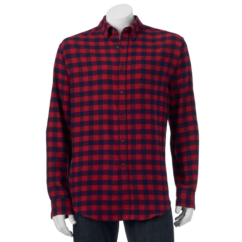 Men'S Flannel Button Down Shirts