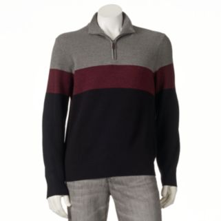 Big & Tall Dockers Classic-Fit Colorblock Comfort Touch Quarter-Zip Sweater