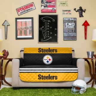 Pittsburgh Steelers Quilted Loveseat Cover