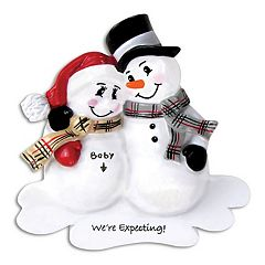 PolarX Ornaments Snowman 'We're Expecting!' Christmas Ornament