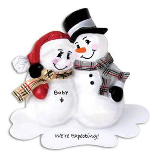 "PolarX Ornaments Snowman ""We're Expecting!"" Christmas Ornament"