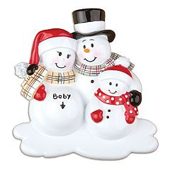 PolarX Ornaments Snowman Family 'Baby' Christmas Ornament