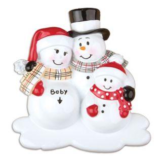 "PolarX Ornaments Snowman Family ""Baby"" Christmas Ornament"