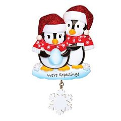 PolarX Ornaments Penguin 'We're Expecting!' Christmas Ornament