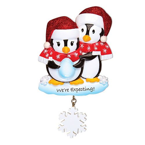 Expecting Christmas Ornaments.Polarx Ornaments Penguin We Re Expecting Christmas