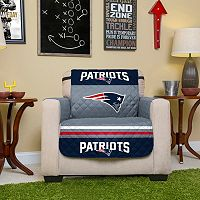 New England Patriots Quilted Chair Cover