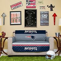 New England Patriots Quilted Loveseat Cover
