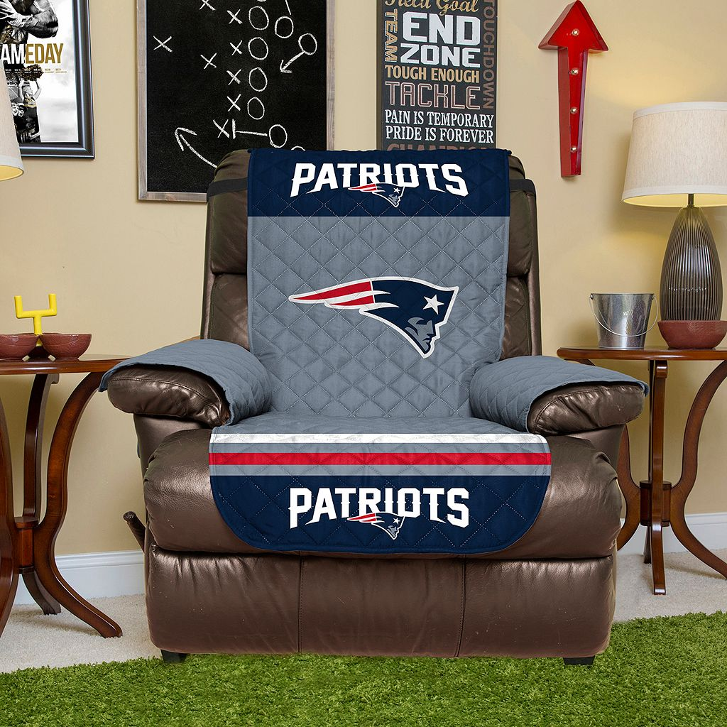 New EnglandPatriots Quilted Recliner Chair Cover
