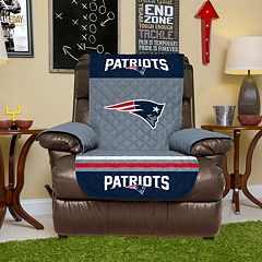 New England Patriots Quilted Recliner Chair Cover