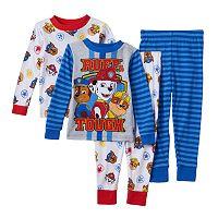 Toddler Boy Paw Patrol Chase, Marshall & Rubble 4 pc Pajama Set